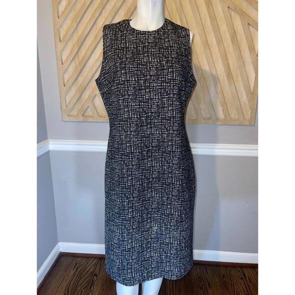 J McLaughlin Catalina Cloth Neoprene BARRY Sheath Dress - Size Large